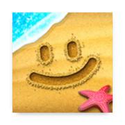 沙滩涂鸦画